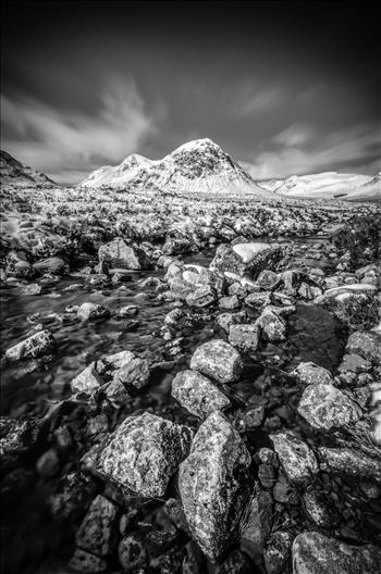 Glen Etive Portrait Black & White by Bryans Photos
