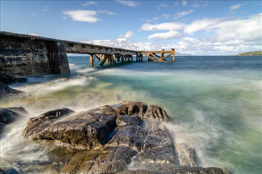 Portencross Pier Landscape by Bryans Photos