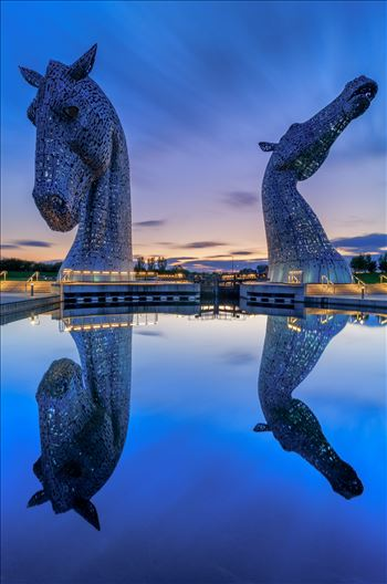 Last Light at the Kelpies by Bryans Photos