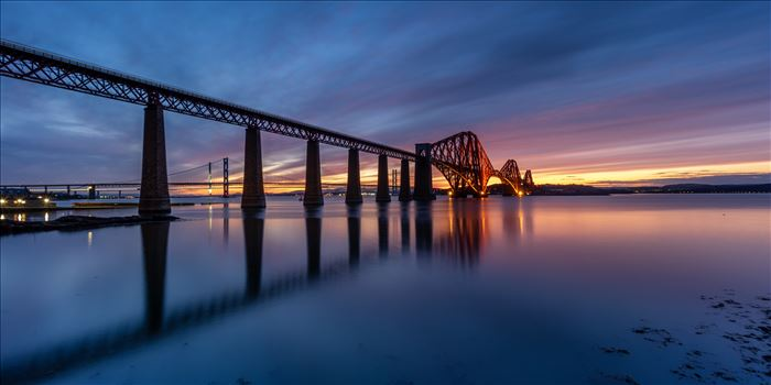 South Queensferry Sunset Panorama by Bryans Photos