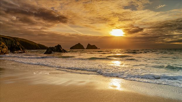 Holywell Bay Panorama by Bryans Photos