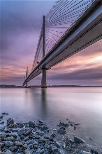 The Crossing - A portrait photograph of the Queensferry Crossing taken from North Queensferry at sunset.
