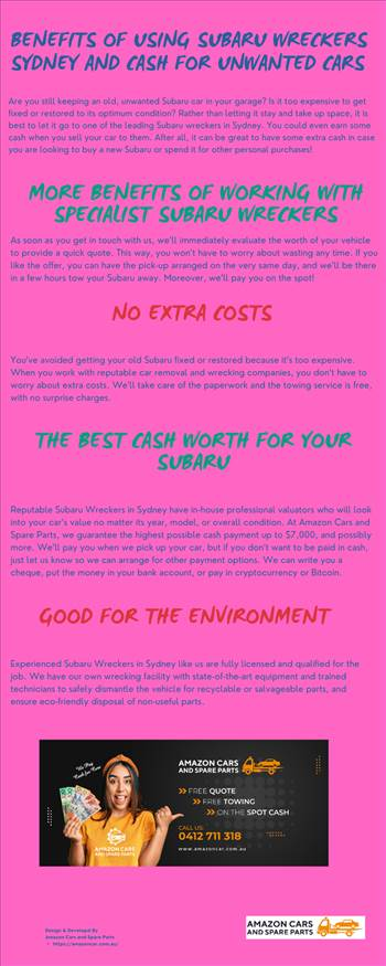 Benefits of Using Subaru Wreckers Sydney and Cash for Unwanted Cars.png by amazoncars