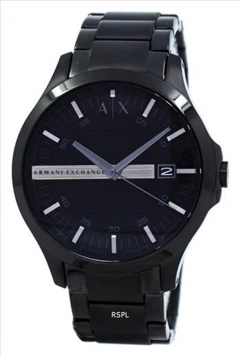 Armani Exchange Black Dial Stainless Steel AX2104 Mens Watch.jpg by Jason