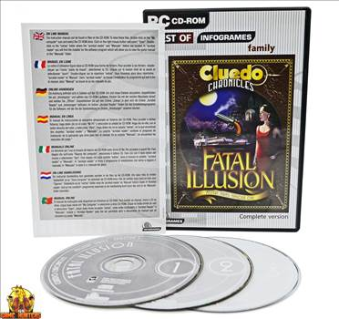 Cluedo Chronicles Fatal Illusion Case, Installation and on line manual access instructions & Discs.jpg by GSGAMEHUNTERS