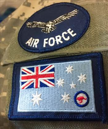 Royal Australian Air Force Flag Patch  by johntorcasio