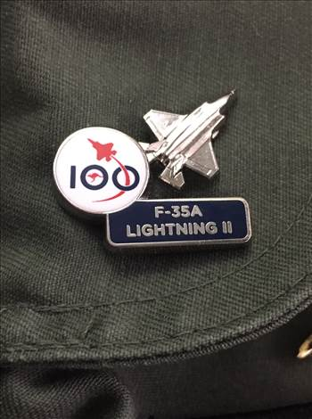 Air Force 100 F-35A Lightning II Pin by johntorcasio