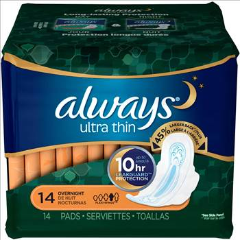Always Ultra Thin 10 hr leakguard protection 14 count overnight 1.jpg by BudgetGeneral