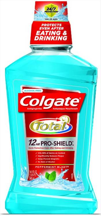 Colgate Total Advanced Pro-Shield Mouthwash, Peppermint.jpg by BudgetGeneral