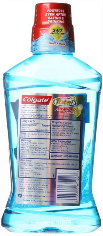 Colgate Total Advanced Pro-Shield Mouthwash, Peppermint 2.jpg by BudgetGeneral