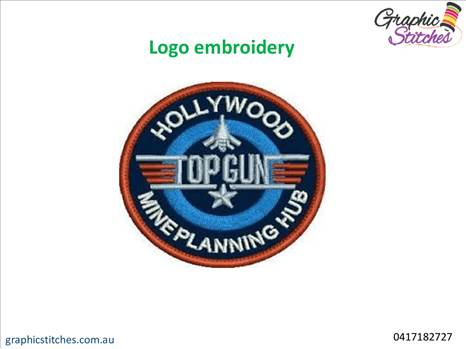 Logo embroidery- Graphic Stitches.gif by Graphicstitch