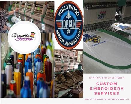 Custom embroidery services by Graphicstitch