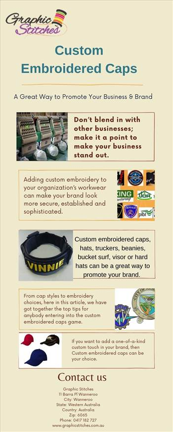 Custom Embroidered Caps A Great Way to Promote Your Business &Brand.jpg by Graphicstitch