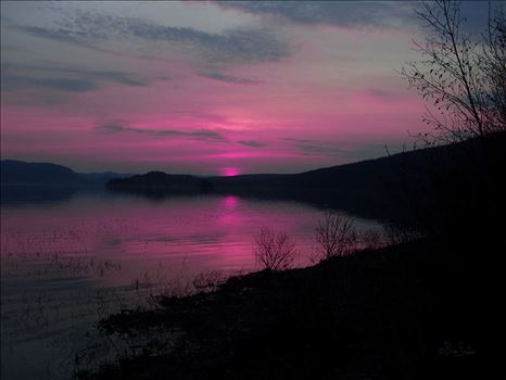 Pink Sunset over Echo Lake by Snookies Place of Wildlife and Nature