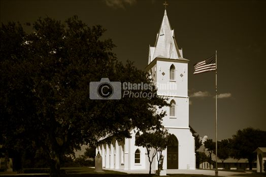 Quartering View of Panna Maria Church (B&W) by Charles Smith Photography