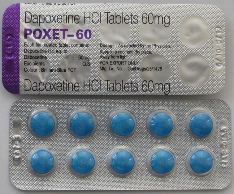 Dapoxetine 60mg Dapoxetine 60mg (Poxet) treat premature ejaculation in men. by bluepills