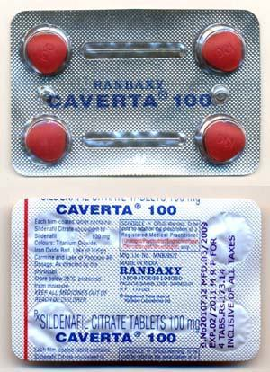 Caverta 100mg Sildenafil Citrate 100mg (Caverta) is a tablet used to treat impotency issue in men. Caverta is to be taken orally. by bluepills