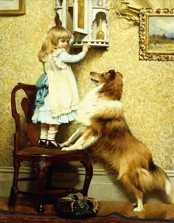 little-girl-and-her-sheltie-charles-burton-barber.jpg by DianneD1