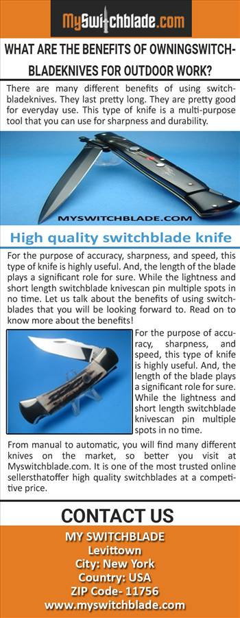 What are the benefits of Owning Switchblade Knives for Outdoor Work.jpg by Myswitchblade