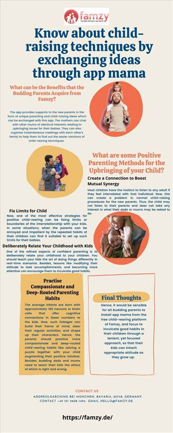 Know about child-raising techniques by exchanging ideas through app mama.jpg by famzyapp
