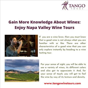 Gain More Knowledge About Wines: Enjoy Napa Valley Wine Tours  by Tangowinetours