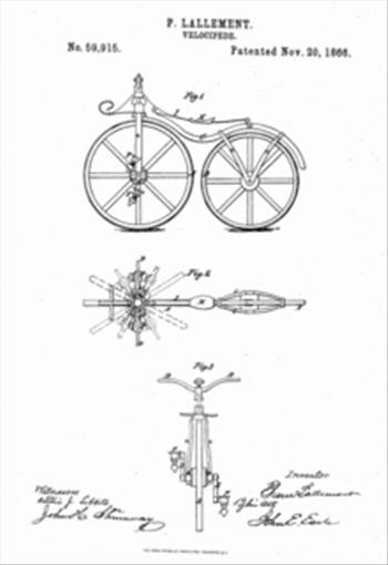 220px-Lallement-bicycle-patent-1866.gif by JohnBunker