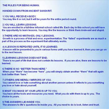Rules for being human.jpg by Mediumystics