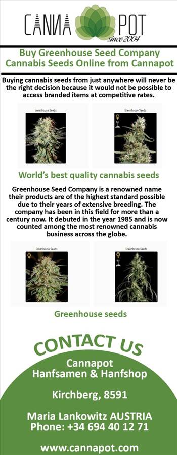Buy  Greenhouse Seed Company Cannabis seeds online from Cannapot.jpg by Cannapot