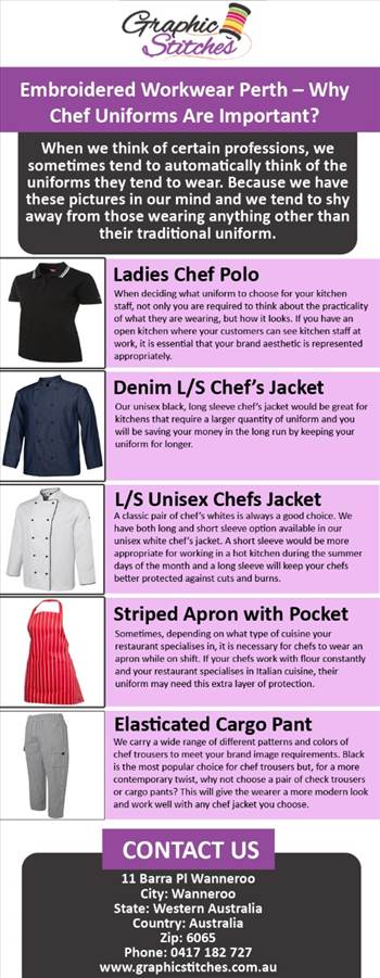 Embroidered Workwear Perth– Why Chef Uniforms Are Important.jpg by Graphicstitches