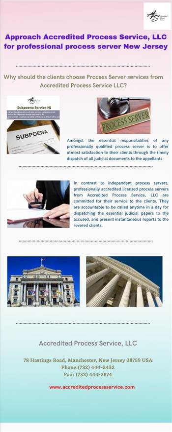 Approach Accredited Process Service, LLC for professional process server New Jersey by Accreditedprocess