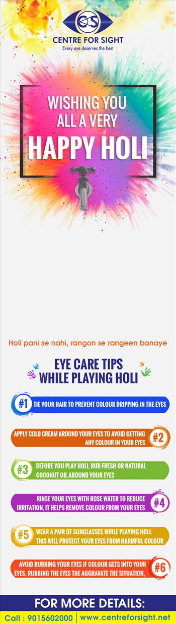Eye Care Tips While Playing Holi by centreforsight