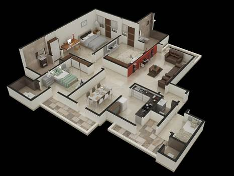 3D Floor Plans by Rayvatengineering