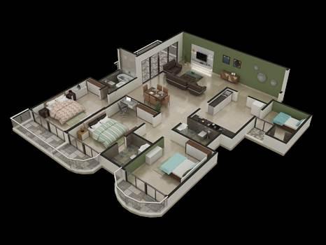 3D Floor Plan by Rayvatengineering