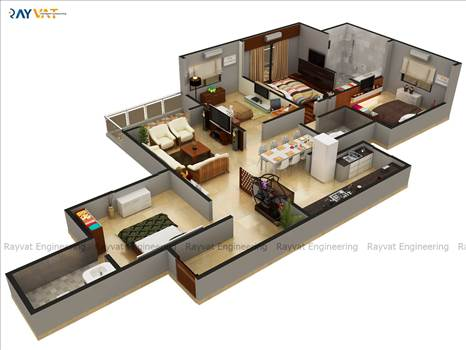 Looking for outsourcing 3D Floor Plan Services? We provide Architectural 3D Floor Plan Rendering and Design Services for residential and commercial buildings.