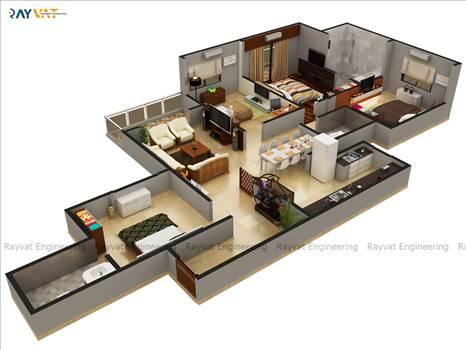 Luxurious-Flat-4-Bedrooms-Dubai.jpg by Rayvatengineering