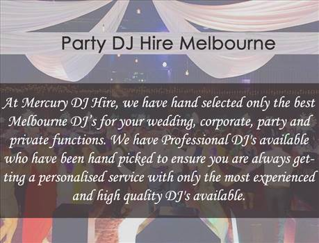 Party DJ Hire by Mercurydjhire