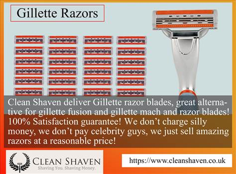 Gillette Razors by Cleanshavens