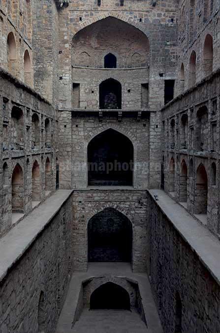 "Monuments: Agrasen ki Baoli, New Delhi (India) The historic 5000 years old ""Agrasen Ki Baoli"" or step well at Hailey Road, Connaught Place, New Delhi, by Anil Sharma Photography"