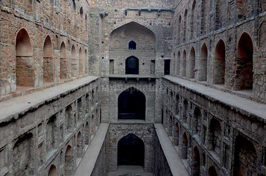 "Historic ""Agrasen Ki Baoli"" situated at Hailey Road near Connaught Place, New Delhi, India"