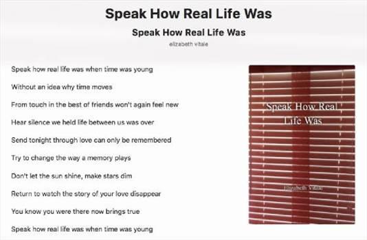 Speak How Real Life Was.jpg by elizabethvitale
