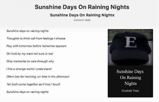 Sunshine On Raining Nights.jpg by elizabethvitale