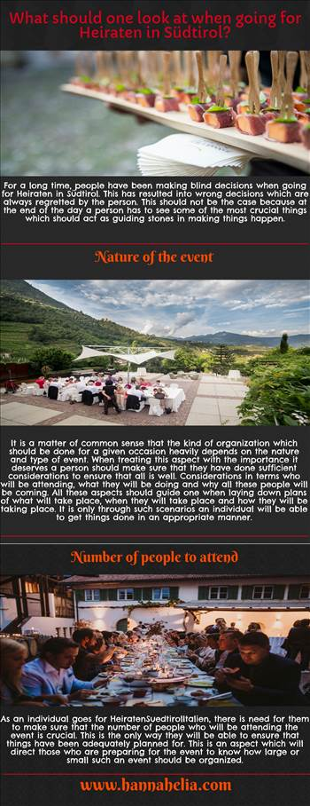 What should one look at when going for Heiraten in Südtirol? by hannahelia