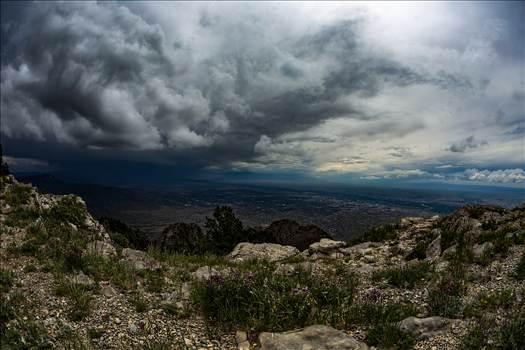 Sandia Crest Storm Watching.jpg by Joey Onyxone Sandoval