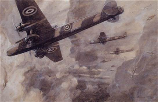 frederick-gordon-crosby-battleships-of-the-air -an-impression-of-the-handley-page-harrow-bombers-in-action.jpg by adey m
