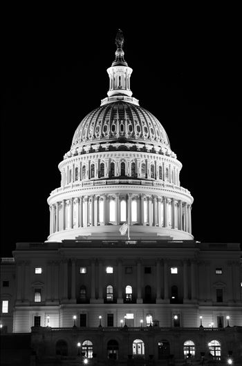 """United States Capitol-Black and White"" by Eddie Zamora"