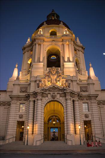Pasadena City Hall at Dusk by Eddie Zamora