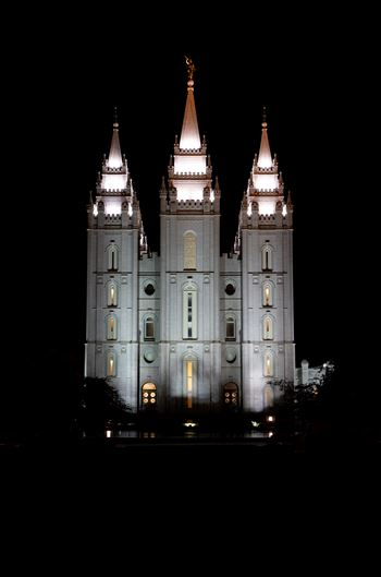 """Salt Lake City Temple-Night"" by Eddie Zamora"
