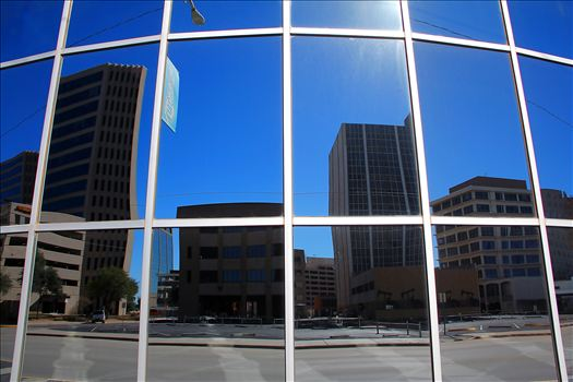Reflection of Downtoan Midland, TX by David Verschueren