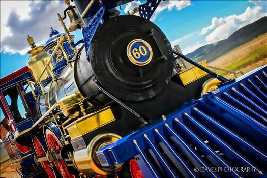 Jupiter Train At Promontory Point, Utah by David Verschueren