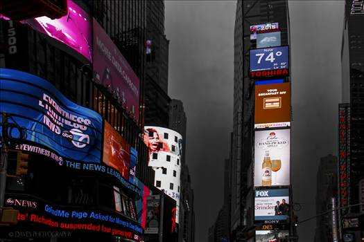 Times Square On a Cloudy Day by David Verschueren